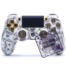 CUSTOM SONY PS4 CONTROLLER DUALSHOCK 4 MONEY TALKS 9MM BULLET BUTTONS NEW