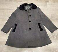 NWOT girl's ROTHSCHILD Coat Gray Black Velvet Dress Jacket size 4T holiday New