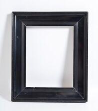"""Antique DUTCH BLACK Ebonized lacquer picture frame, 14""""x11"""" rabbet"""