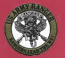 "New U.S Army Ranger 'Rangers Lead The Way' 3 1/2 "" Iron on Patch Free Shipping"