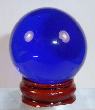 SIBERIAN TIBETAN High Altitude BLUE QUARTZ CRYSTAL BALL SPHERE 40mm + stand