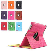 360 Rotating Magnetic Cute Cartoon PU Leather Case Protective Cover for iPad 2/3