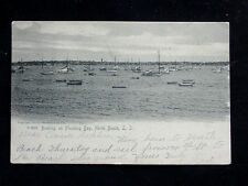 1905 Sailboats in Harbor Flushing Bay North Beach NY post card Queens