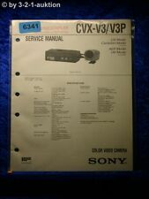 Sony Service Manual CVX V3 /V3P Color Video Camera (#6341)