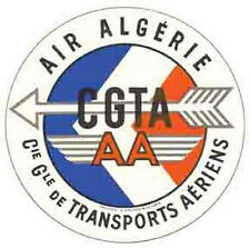 Air Algerie  (Algeria)    Vintage-Looking   Airline  Sticker/Decal/Luggage Label