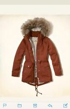 New Jacket From Hollister Heritage Sherpa Lined Parka Size M