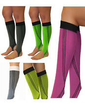 Elastic Sports Compression Gauntlets Knee Stockings Steg Legs Run 0408-02