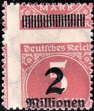 DR, Infla, Mi.Nr. 312 B Durchstich sehr weit versetzt postfrisch einwandfrei