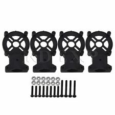 4PCS Handy Round Tube for Fiber Class Black Motor Mount Support Seat 16mm