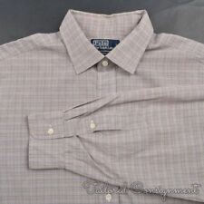 POLO RALPH LAUREN Philip Plaid Check 100% Cotton Mens Luxury Dress Shirt - 17.5