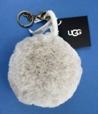 UGG Keychain Polar Pompom Purse/Bag Charm Brown/Grey Faux Fur Ball