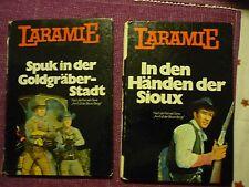 2 Western Bücher nach der Fernseh- Serie Laramie aus dem Jahr 1970