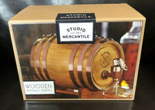 Whiskey Wood Barrel Dispensers Studio Mercantile American Vintage Inspired NIP