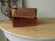 D11 2 x Wooden Box Avocados Box Vintage