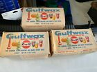 Vtg Gulf Wax Household Paraffin Candlemaking Crafts Canning 1 Lb. - 3 Pack