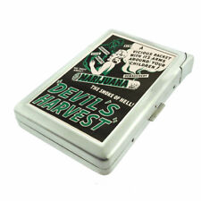 Vintage Poster D302 Cigarette Case with Built in Lighter Metal Wallet