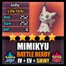 Pokemon Sword and Shield SHINY 6IV MIMIKYU BATTLE READY IV+ Can Breed w/ Ditto
