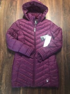 New Spyder Womens Puffer Ski Jacket Size Small Purple