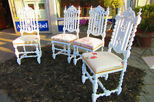 4 Stühle Gründerzeit um 1880 Antik weiß