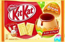 Japanese NESTLES kitkat kit kats EASTER 2017 custard pudding flavor 12P candy