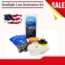 US Stock Car Headlight Light Lens Restoration Kit Scratch Yellowed Blur Repair