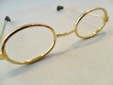 Doll Eyeglasses Small Oval Frames Gold Plated Tone Rubber Tips American Girl?