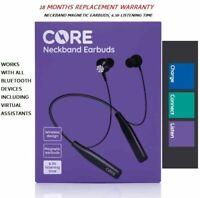 Bluetooth Wireless Hi-Fi Sound In-Ear CORE Wireless Neckband Earbuds universal