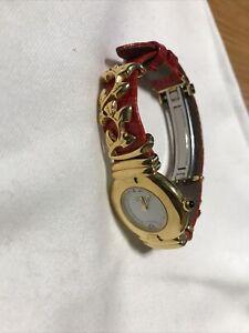 Van Der Bauwede Red  Leather Ladies Wrist Watch