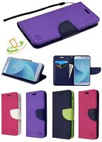 Samsung Galaxy J3 2018 Leather Flip Wallet Protective Case Magnetic Cover Stand