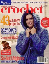 BHG Simply Creative Crochet Patterns Beaded Scarf Coat Flowers Toys Afghans 2004