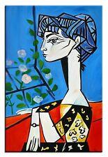 Pablo Picasso-Jacqueline 90x60 Ölgemälde Handgemalt Leinwand Signiert G00791
