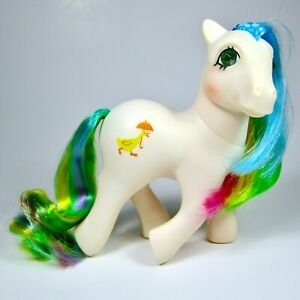 My Little Pony- QUACKERS Vintage 1987 G1- Twinkle Jewel Eye- White Rainbow Duck