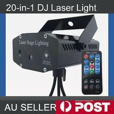 20 Patern Laser Projector DJ Disco Stage Home Lighting Light Sound Active Remote