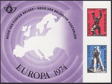 Belgium 1974 Special Proof Sheet EUROPA Issue FEUILLET DE LUXE Cob LX62....A4860