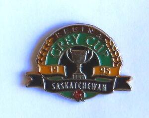 1995 Regina Grey Cup Festival Saskatchewan Roughriders CFL football pin