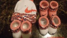 NIKE  Girls Size 0 - 6 Months ~ New ~ Beanie & Booties Pink W Polka Dots ~ 4 pc