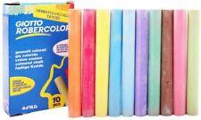Coloured Chalk Sticks Craft School Playground Pavements Arts Rainbow Pack 10