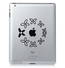 fleur cercle Apple Ipad Mac MacBook PC PORTABLE autocollant vinyle décalcomanie.