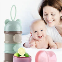 4-Layers Milk Powder Dispenser Holder Formula Container Baby Food Feeding Box