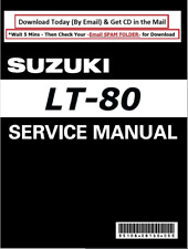 Suzuki Lt80 Atv Repair Workshop Maintenance Manual 1987-2006 cd