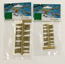 Gold Clock Numbers Set Roman Numerals 10mm or 15mm Adhesive AUSSIE SELLER