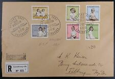 Luxembourg 1962 National Welfare Fund - Six Vals on Registered FDC