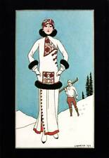 Authentic Vintage Art Deco Fashion Print George Barbier Journal des Dames