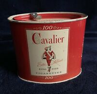 Vintage Cavalier 100 King Size Cigarette Tin