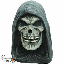 Adult Grim Reaper Skull Halloween Horror Latex Full Head Neck Fancy Dress Mask