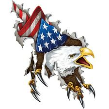 Eagle Ripping American Flag Tool Box Bumper Sticker Vinyl Decal