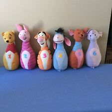 Winnie Pooh and Friends Plush Bowling Pin Toys Figures 6 Piece