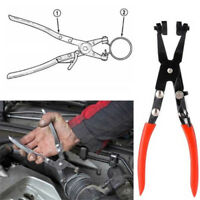 Car Pipe Hose Clamp Pliers Fuel Coolant Clip Straight Curved Throat Tube Plier