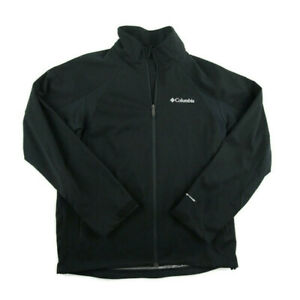 Columbia Mens Omni Heat Full Zip Jacket Black Full Zip Thermal Comfort Size M