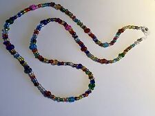 Eyeglasses Lanyard Spectacles Coloured Glass Beaded Chain Cord